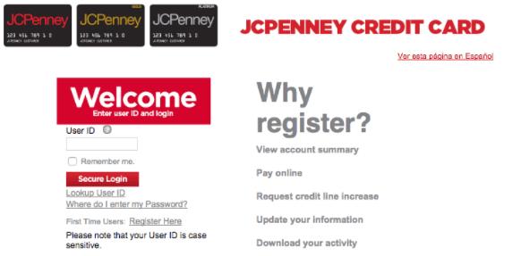 Jcpenny fazer o pagamento