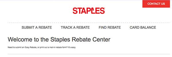 staples easy rebate